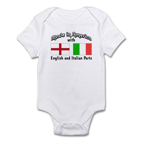 English & Italian Parts Infant Bodysuit