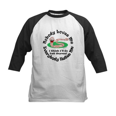 Eat Some Worms Kids Baseball Jersey
