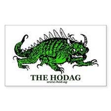 Rhinelander Hodag Rectangle Sticker