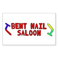 Bent Nail Saloon Rectangle Decal