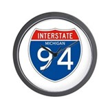 Interstate 94 - MI Wall Clock