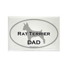 Rat Terrier DAD Rectangle Magnet