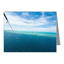 Parasailing over coral reef, Note Cards (Pk of 20)