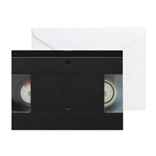 Close up of a video cassette isolate Greeting Card