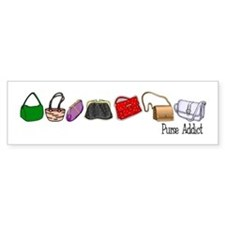 Purse Addict Bumper Bumper Sticker