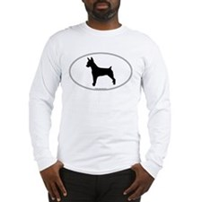 Rat Terrier Silhouette Long Sleeve T-Shirt