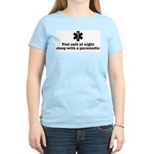 Feel Safe with a Paramedic Women's Pink T-Shirt