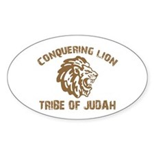 LION of JUDAH Oval Decal