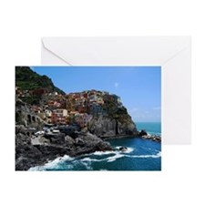Manarola fishing village Greeting Cards (Pk of 10)