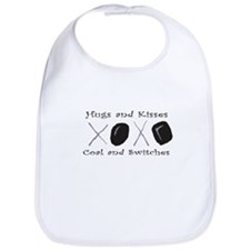 Christmas XOXO Coal and Switches Bib