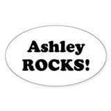 Ashley Rocks! Oval Decal