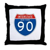 Interstate 90 - NY Throw Pillow
