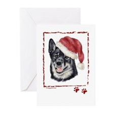 Merry Christmas Lapponian Herder  Greeting Cards