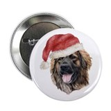 Christmas Leonberger Button