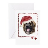 Merry Christmas Leonberger Greeting Cards