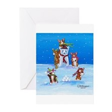 Snow Corgis III Greeting Cards (Pk of 10)