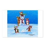 Snow Corgis III Postcards (Package of 8)