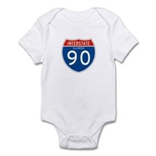 Interstate 90 - IL Infant Bodysuit