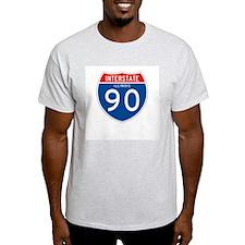 Interstate 90 - IL Ash Grey T-Shirt
