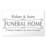 Fisher & Sons Rectangle Decal