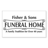 Fisher &amp; Sons Rectangle Decal