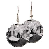 Frozen waterfall on Schwarzen Earring Circle Charm