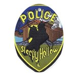 Sleepy Hollow IL PD Oval Ornament