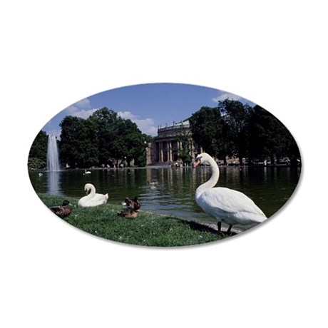 State Opera House in Stuttga 35x21 Oval Wall Decal