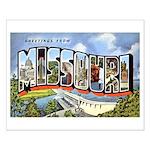 Missouri Greetings Small Poster