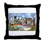 Missouri Greetings Throw Pillow