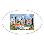 Missouri Greetings Oval Sticker