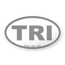 Triathlon TRI Euro Oval Decal