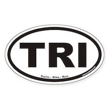 Triathlon TRI Euro Oval Decal
