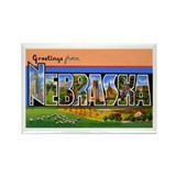 Nebraska Greetings Rectangle Magnet