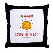 Grandma Loves Me Throw Pillow