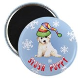 "Holiday Bichon 2.25"" Magnet (10 pack)"