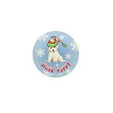 Holiday Bichon Mini Button (10 pack)