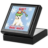 Holiday Bichon Keepsake Box