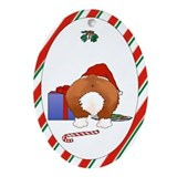 Pembroke Welsh Corgi Christmas Oval Ornament
