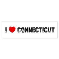 I * Connecticut Bumper Bumper Sticker