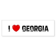 I * Georgia Bumper Bumper Sticker
