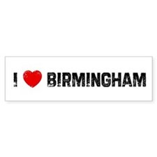 I * Birmingham Bumper Car Sticker
