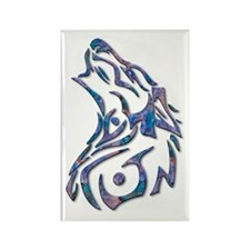 Tribal Wolf Art 9 Rectangle Magnet (10 pack)