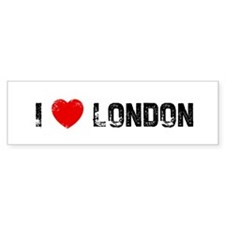I * London Bumper Car Sticker