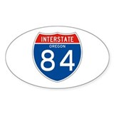 Interstate 84 - OR Oval Decal