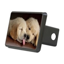 2 Golden Retriever Puppies Hitch Cover