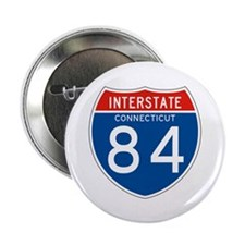 "Interstate 84 - CT 2.25"" Button (100 pack)"