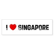 I * Singapore Bumper Bumper Sticker