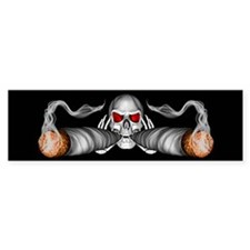 Pot Smoking Skull Bumper Bumper Sticker