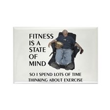 Fitness State of Mind Rectangle Magnet